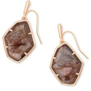 Kendra Scott rose gold Dax drop earrings